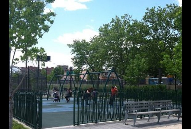 A separate gated swings area