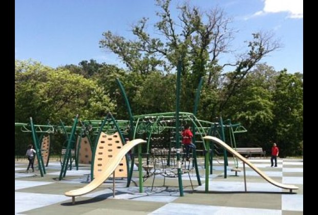 The first of two new Starlight Park playgrounds