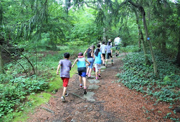 "Play in and with nature in Greenburgh Nature Center's ""Muddy Sneakers"" program. Photo courtesy of the nature center"