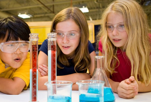 Kids become chemists at multiple museums during STEM week. Photo courtesy of the Museum of Science