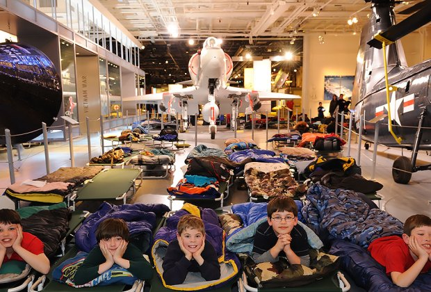 Sleep among the aircrafts! Photo courtesy of the Intrepid Museum
