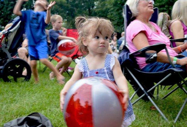 Adults can sit back and enjoy the music while kids dance and play at Naper Nights. Photo courtesy of Naper Nights