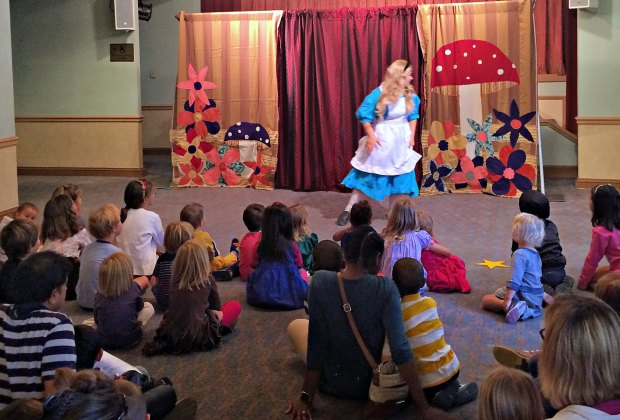 Saturday Morning at The National - the National Theatre's free Saturday morning interactive performance program for kids. Photo courtesy of the National Theatre