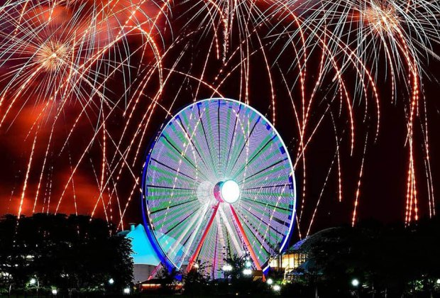 The Navy Pier Fireworks are a highlight of summer in Chicago. Photo courtesy of Navy Pier