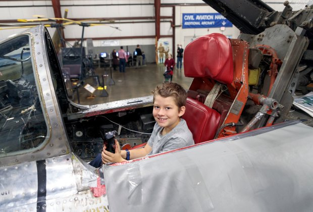 Open Cockpit Day at the New England Air Museum. Photo courtesy of the museum