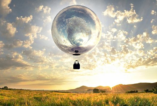A giant mirrored balloon will travel from Martha's Vineyard to the Berkshires. Commissioned by the Trustees. Photo by Doug Aitken
