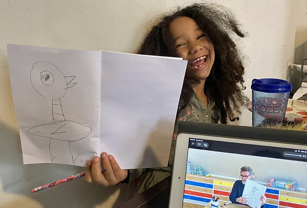 Mo Willems taught doodling to kids in New York City and beyond