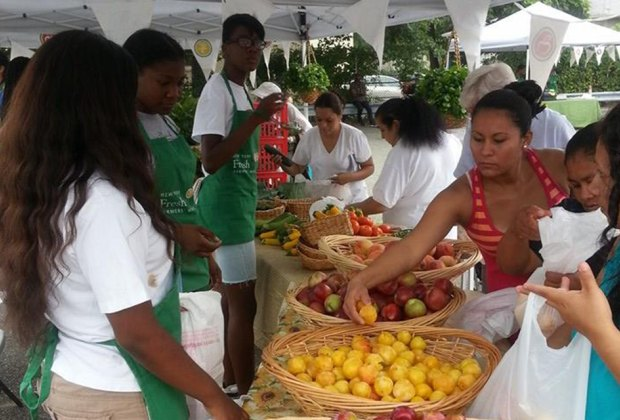 Sample the fresh produce at the New Cassel Farmers' Market, which is actually in Westbury.