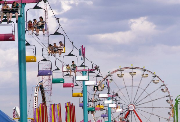 Soar through the sky at the New Jersey State Fair. Photo by Jackie via Flickr