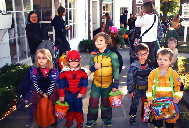 Don your best Halloween costume for trick-or-treating in Stony Brook Village. Photo courtesy of the village