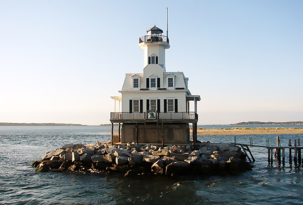 """Bug Light,"" near Greenport, is one of only a few offshore lighthouses to allow visitors. Photo courtesy of the East End Seaport Museum."