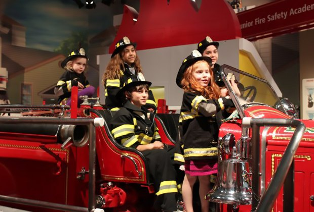 Firefighters to the rescue at the Nassau County Firefighters Museum and Education Center.