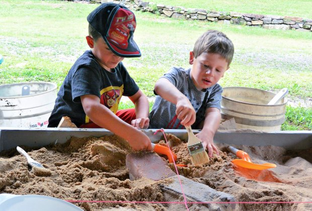 Archaeology Festival. Photo courtesy of Newlin Grist Mill