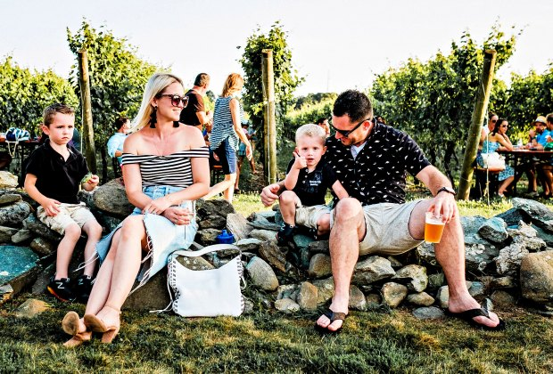 Newport Vineyards is a great place to relax and enjoy lovely views. Photo by Sunway Photography