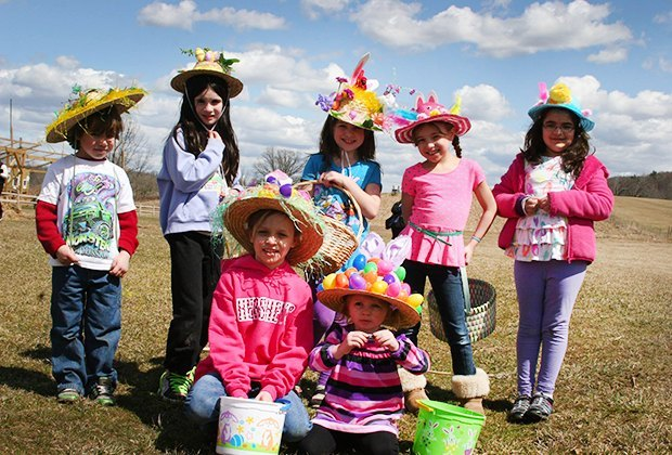 Don your best bonnet and hunt for eggs at Heaven Hill Farm. Photo courtesy of the farm