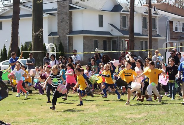 More than 2,000 treat-filled eggs are up for grabs at Hanson Park. Photo courtesy of the event