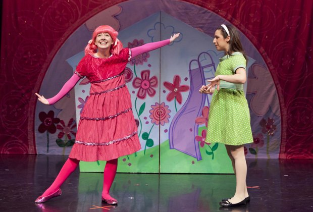 Will Pinkalicious ever have her fill of cupcakes? Find out at the Smithtown Center for the Performing Arts. Photo courtesy of the production
