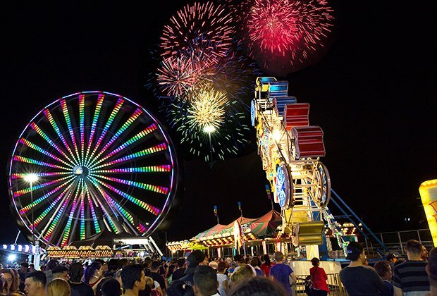 The New Jersey State Fair puts on a thrilling fireworks display on July 3 and 4. Photo courtesy of the New Jersey State Fair