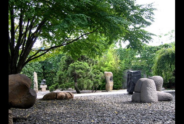 Outdoors you'll find Noguchi's lovely sculpture garden