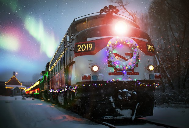On the Northern Lights and Santa Express trains, parents and kids alike can hop aboard for an opportunity to visit Santa Claus.