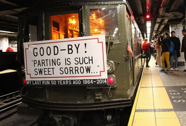 Travel back in time with an old-school train to Woodlawn Cemetery. Photo courtesy of the New York Transit Museum