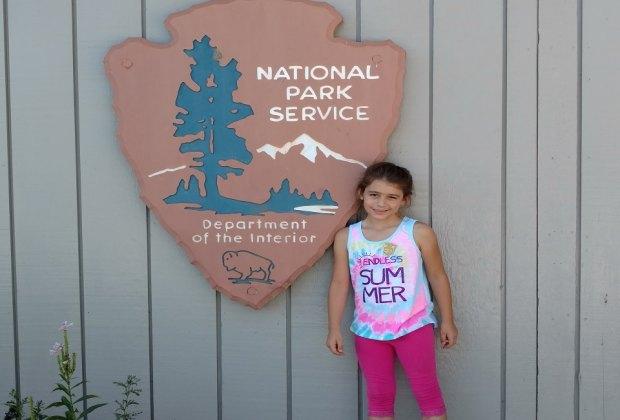 This Junior Ranger scored her badge!