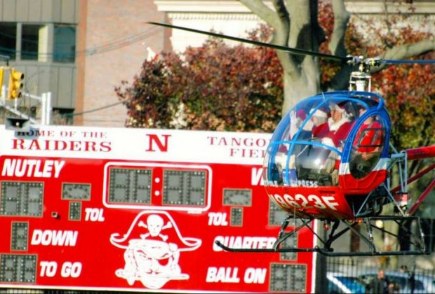 Santa's copter arrives in Nutley this weekend.  Photo courtesy of the Nutley Educational Foundation