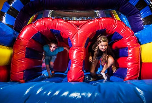 Pump It Up is known for parties, but it also offers daily open-jump sessions. Photo courtesy of Pump It Up