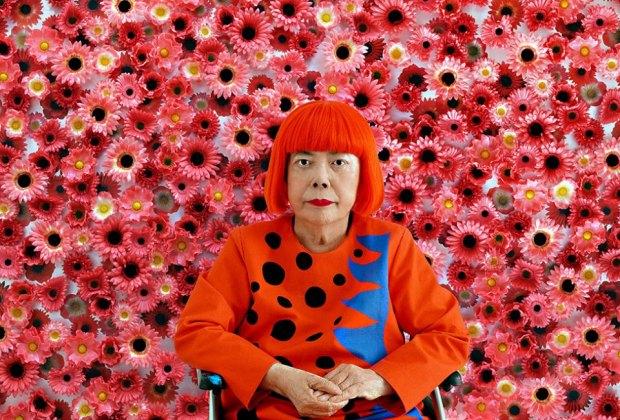 Kusama and Flowers at NYBG