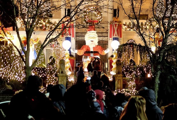 Gawk at the impressively decorated houses in Dyker Heights. Photo by Peter Burka