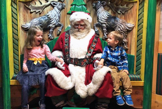 Kids can opt to pose with Santa solo or with parents. Photos by Rose Gordon Sala except where noted