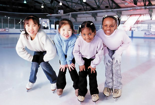 The Sky Rink at Chelsea Piers offers skating lessons and open skate sessions. Photo courtesy of Chelsea Piers