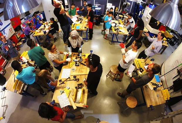 At NYSCI Maker Space, use real tools to make real things and re-use everyday materials in exciting ways.