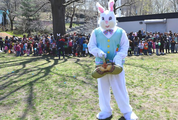 Join the free community organization NYSoM for an egg hunt in the Target East Harlem Garden. Photo courtesy of NYSoM