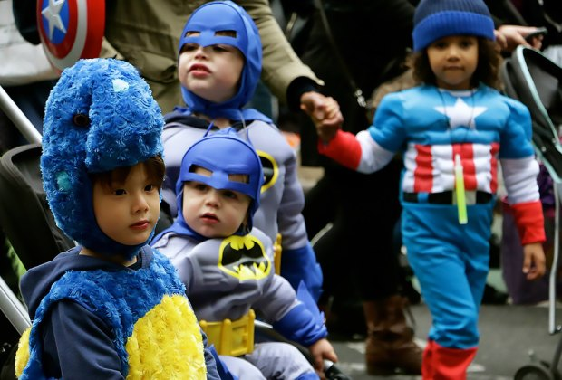 NYU and Manhattan Community Board 2 host an annual Children's Halloween Parade that's one of the city's biggest free Halloween events for kids. Photo courtesy of NYU