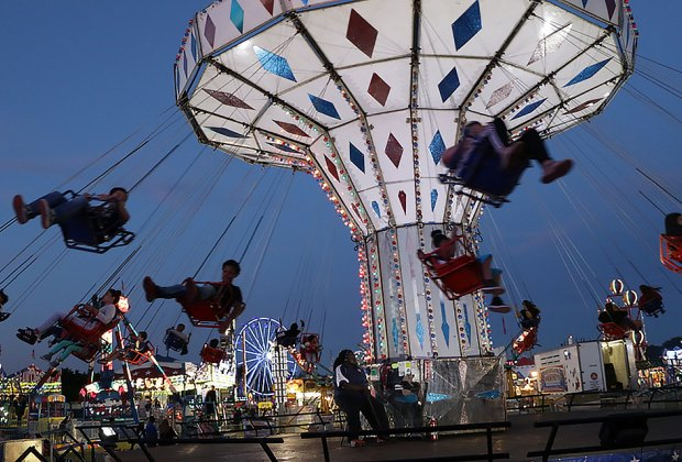 Soar over the midway at the Orange County Fair. Courtesy of the fair