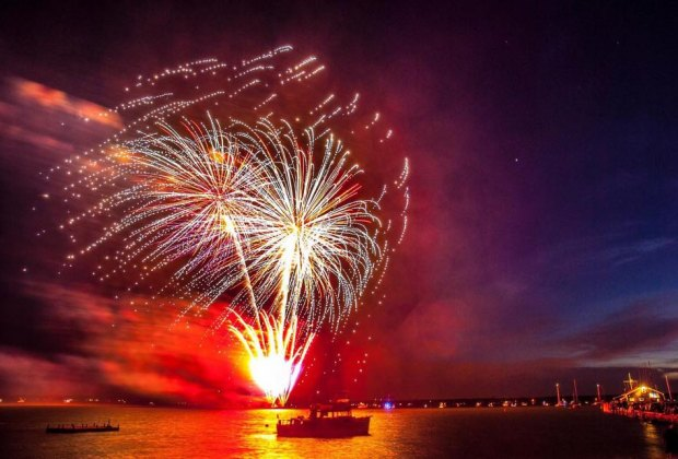 The Independence Day celebrations and fireworks continue through the weekend in Orient. Photo courtesy of the Orient Point Yacht Club