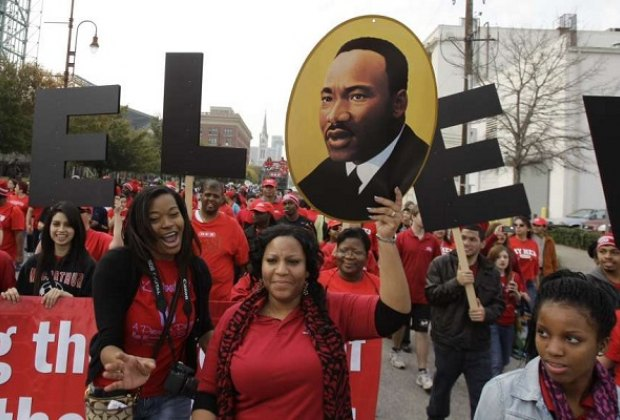 """Celebrate the life of Dr. Martin Luther King, Jr. at the 41st Annual """"Original"""" MLK Day Parade./Photo courtesy of Black Heritage Society."""