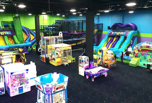 The multilevel play space at Xplore Family Fun Center delights kids of all ages. Photo courtesy of the venue