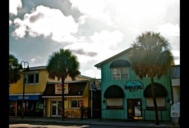 Cute shops on the beach strip
