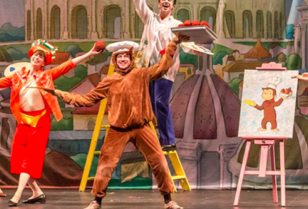 This lovable little monkey comes to the Paper Mill Playhouse in their production of Curious George. Photo courtesy of the theater