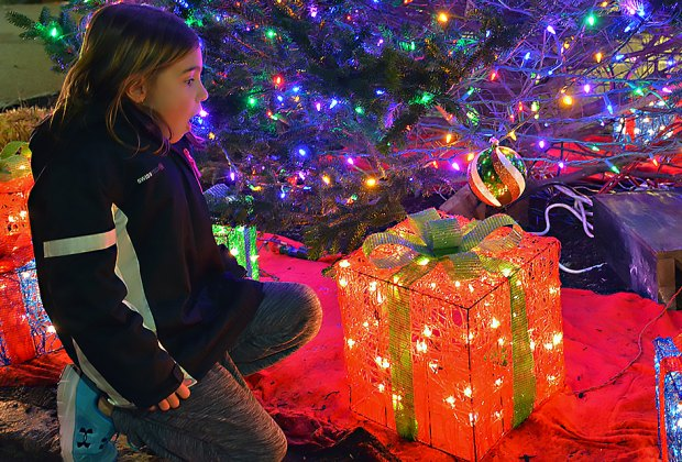 Your child's face is sure to light up at the West End Electric Light Show. Photo courtesy of Long Beach Parks and Recreation