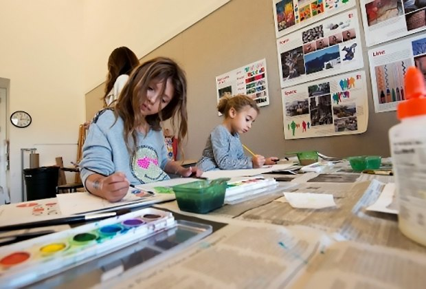 Tour the galleries and create your own work of art at Parrish Art Museum's open studio for families. Photo courtesy of the museum