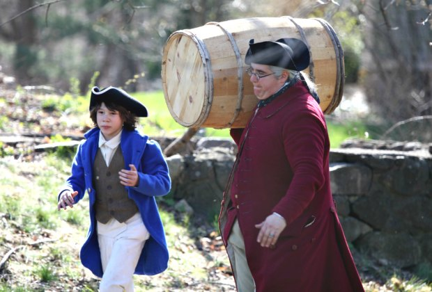 Step back into the year of 1775 when war broke out against the British at Junior Ranger Day in Minute Man National  Historical Park. Photo courtesy of NPS