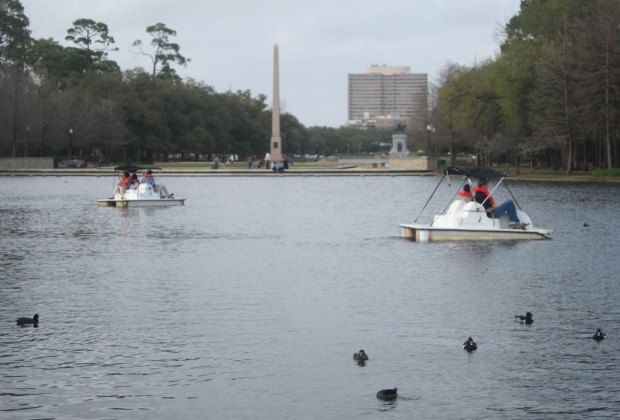 Pedal boats in Hermann Park