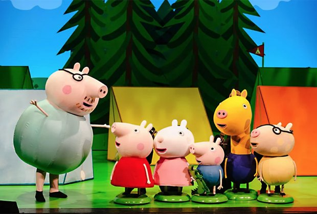 Peppa Pig Live! is an action-packed live show featuring your favorite characters as life size puppets. Photo courtesy of the production