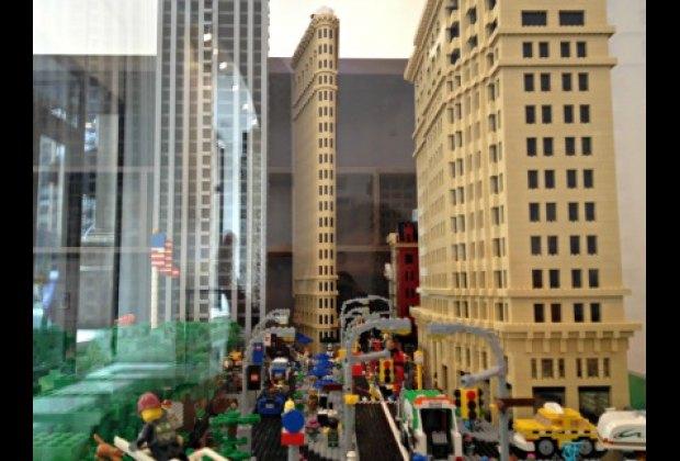 The Flatiron display in the Lego Lounge