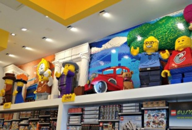 Be sure to look up! There are cool Lego creations everywhere