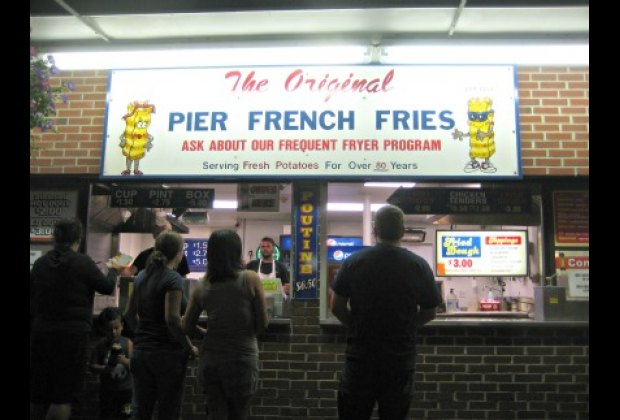 Pier French Fries an OOB institution serving up boxes of handcut fries and fried dough.