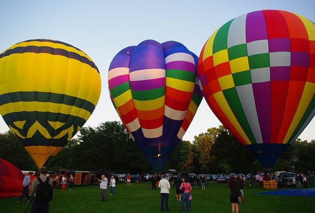 Close out this month with a hot air balloon fest in Hartford County. Photo courtesy of the Plainville Fire Department